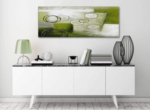Lime Green Painting Living Room Canvas Pictures Accessories - Abstract 1434 - 120cm Print