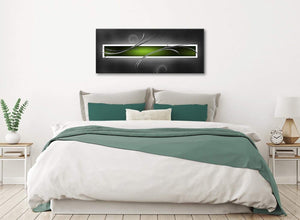 Lime Green White Grey Modern Design Abstract Canvas Living Room Canvas Wall Art Accessories - Abstract 1093 - 120cm Print