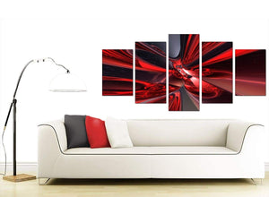 Abstract Extra-Large Red Canvas Wall Art