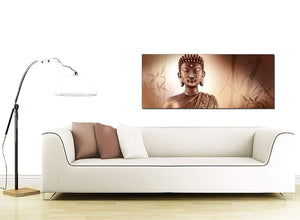 Modern Abstract Buddha Face Brown Zen Canvas