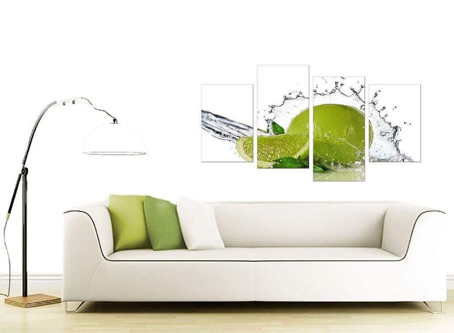 Green Living Room Four Part Set of Limes