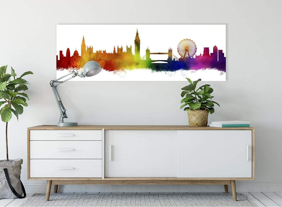 A Contemporary Canvas Picture of a London Skyline in Multi Colours