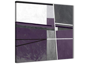 Modern Aubergine Grey Painting Abstract Living Room Canvas Pictures Decor 1s392l - 79cm Square Print