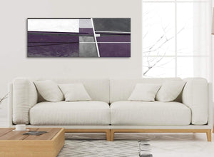 Modern Aubergine Grey Painting Living Room Canvas Wall Art Accessories - Abstract 1392 - 120cm Print