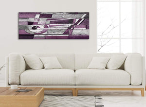 Modern Aubergine Grey White Painting Living Room Canvas Pictures Accessories - Abstract 1406 - 120cm Print