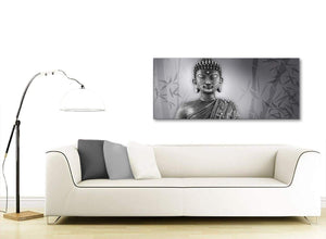 Modern Black White Buddha Bedroom Canvas Wall Art Accessories - 1373 - 120cm Print