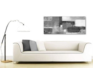 Modern Black White Grey Bedroom Canvas Wall Art Accessories - Abstract 1368 - 120cm Print