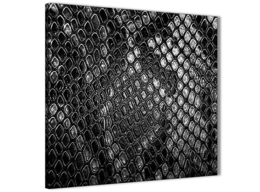 Modern Black White Snakeskin Animal Print Abstract Living Room Canvas Wall Art Decorations 1s510l - 79cm Square Print