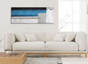 Modern Blue Grey Painting Living Room Canvas Wall Art Accessories - Abstract 1423 - 120cm Print