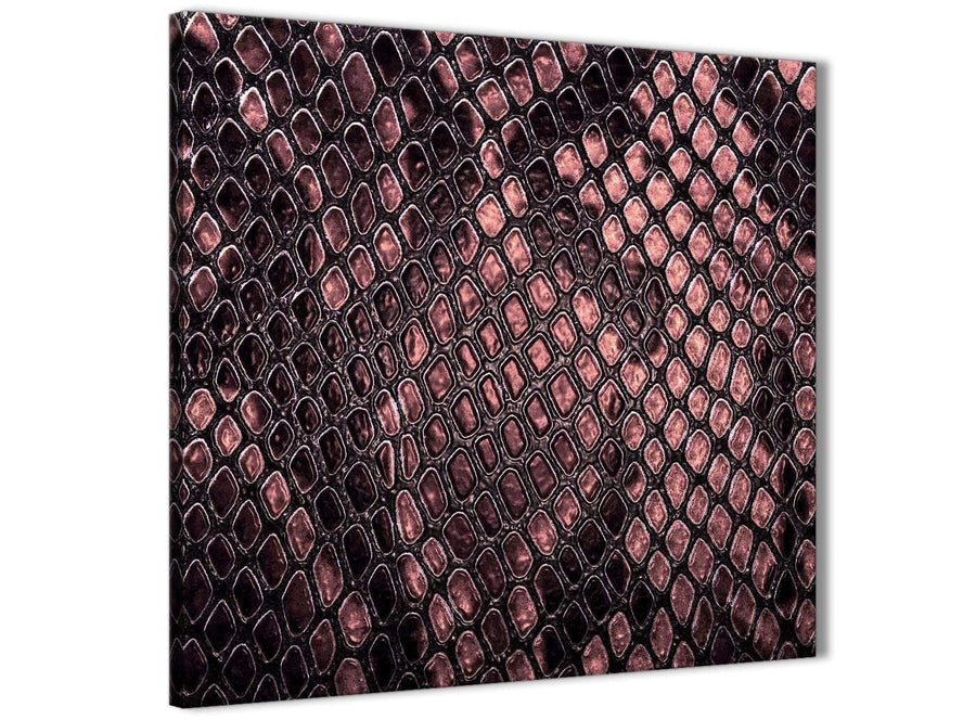 Modern Blush Pink Snakeskin Animal Print Abstract Hallway Canvas Wall Art Decor 1s473l - 79cm Square Print