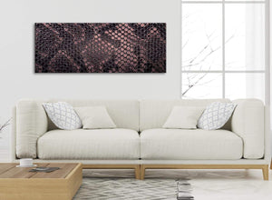 Modern Blush Pink Snakeskin Animal Print Living Room Canvas Wall Art Accessories - Abstract 1473 - 120cm Print