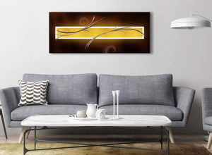 Modern Brown and Gold Abstract Canvas Living Room Canvas Wall Art Accessories - Abstract 1090 - 120cm Print