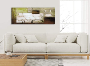 Modern Brown Green Painting Bedroom Canvas Pictures Accessories - Abstract 1421 - 120cm Print