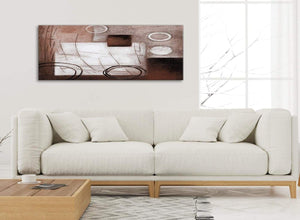 Modern Brown White Painting Living Room Canvas Wall Art Accessories - Abstract 1422 - 120cm Print
