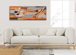 Modern Burnt Orange Grey Painting Living Room Canvas Pictures Accessories - Abstract 1405 - 120cm Print