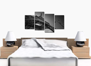 Set Of Four Extra-Large Black White Canvas Pictures