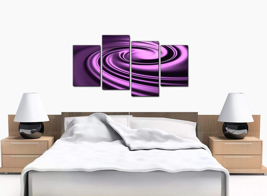 4 Part Set of Extra-Large Purple Canvas Picture
