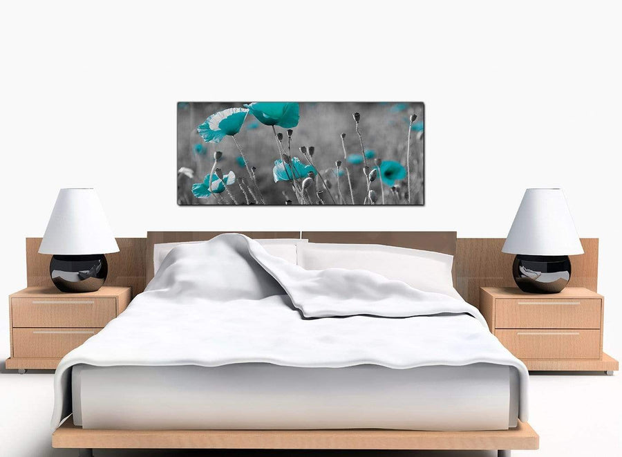 Poppy Modern Teal Canvas Pictures