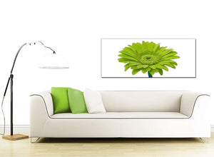 Lime Green White Gerbera Daisy Flower Floral Canvas