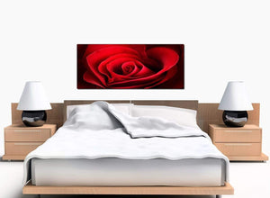 Rose Bedroom Red Canvas Picture