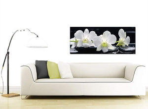 Floral Cheap Black and White Canvas Picture