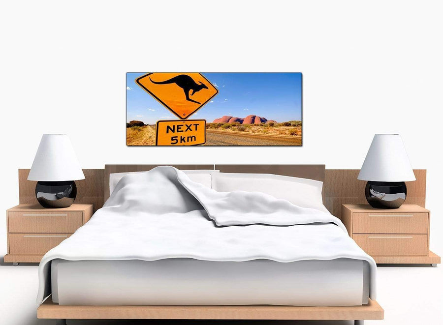 Australia Outback Bedroom Yellow Canvas Picture