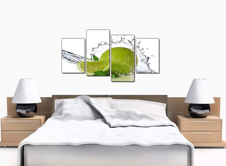 4 Part Set of Large Green Canvas Art
