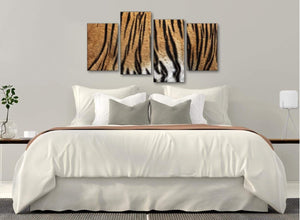 Modern Large Tiger Animal Print Canvas Wall Art - 4472 - 130cm Set of Pictures