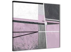 Modern Lilac Grey Painting Abstract Bedroom Canvas Wall Art Decorations 1s395l - 79cm Square Print