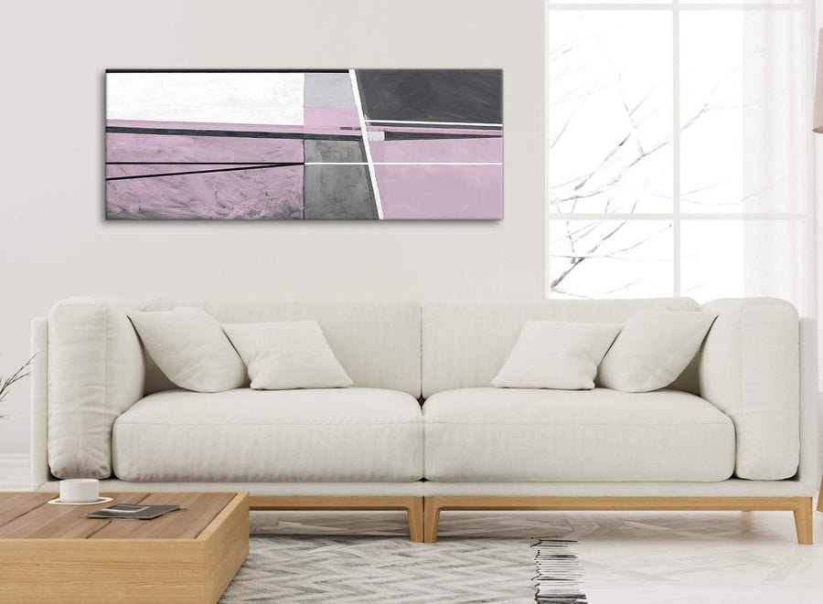 Modern Lilac Grey Painting Living Room Canvas Wall Art Accessories - Abstract 1395 - 120cm Print