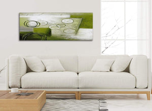 Modern Lime Green Painting Living Room Canvas Pictures Accessories - Abstract 1434 - 120cm Print