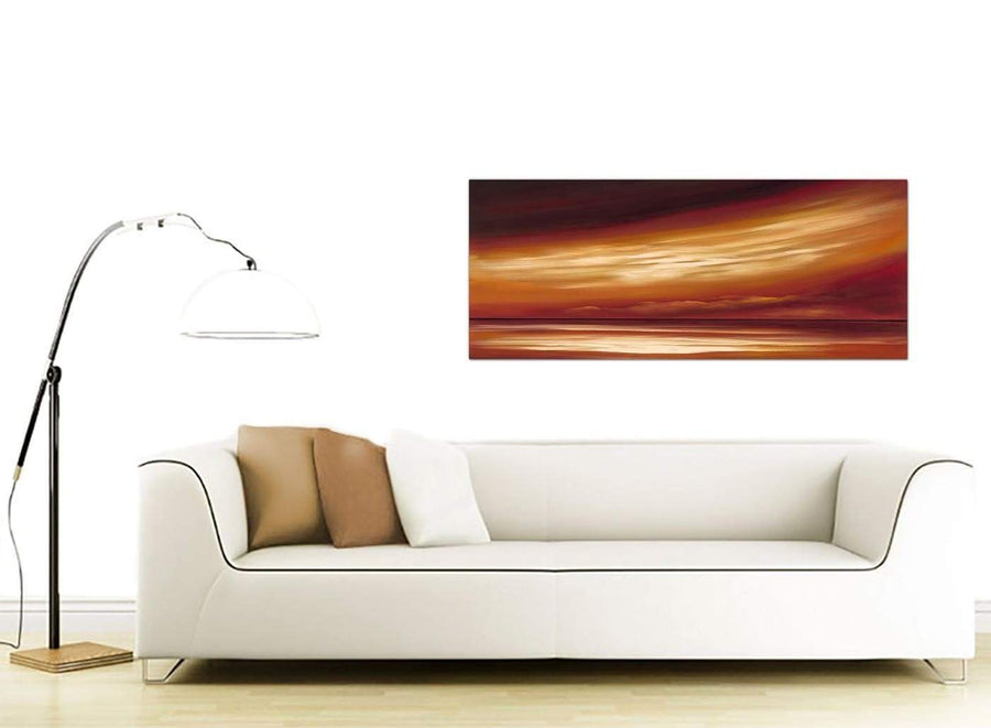 Large Abstract Canvas Wall Art Panoramic 1147