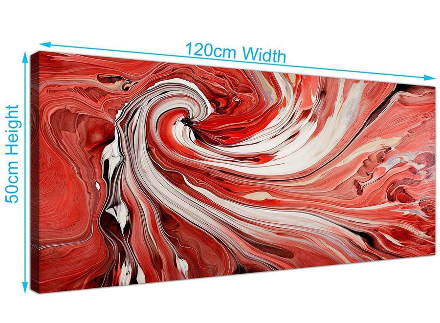 modern panoramic abstract swirl canvas prints red 1265