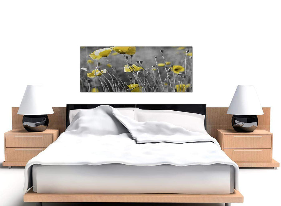 modern panoramic black and white poppies canvas pictures 1258