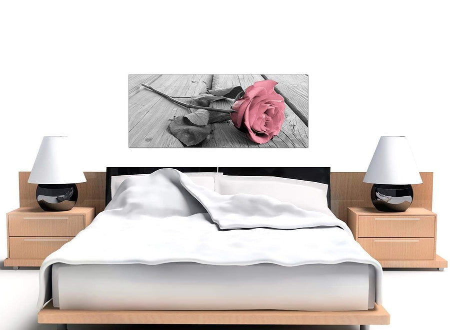 modern panoramic black white and pink rose canvas prints uk 1271