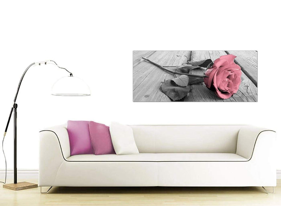modern panoramic flower canvas prints uk living room 1271