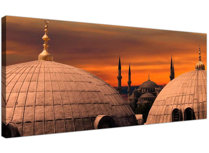 Cheap Islamic Modern Canvas Pictures Orange Sunset  1192