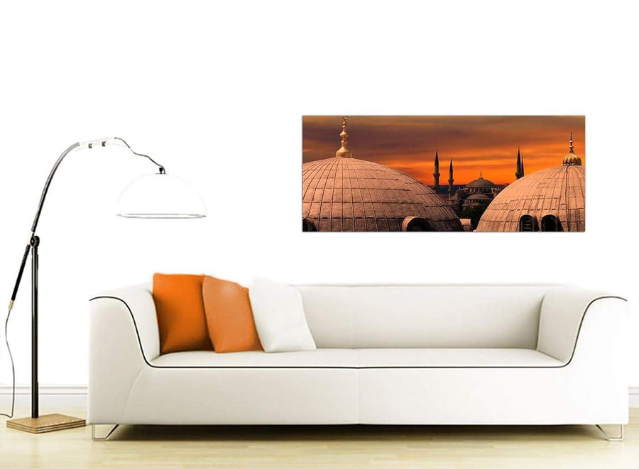 Cheap Landscape Islamic Canvas Wall Art Blue Mosque Sunset 1192