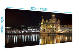 modern panoramic sikh golden temple canvas prints uk black and white 1195