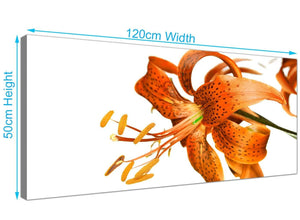 Large Tiger Lily Flower Canvas Art 120cm x 50cm 1142
