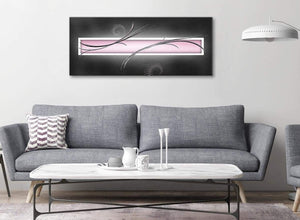 Modern Pink Black Grey White Modern Abstract Canvas Living Room Canvas Wall Art Accessories - Abstract 1296 - 120cm Print