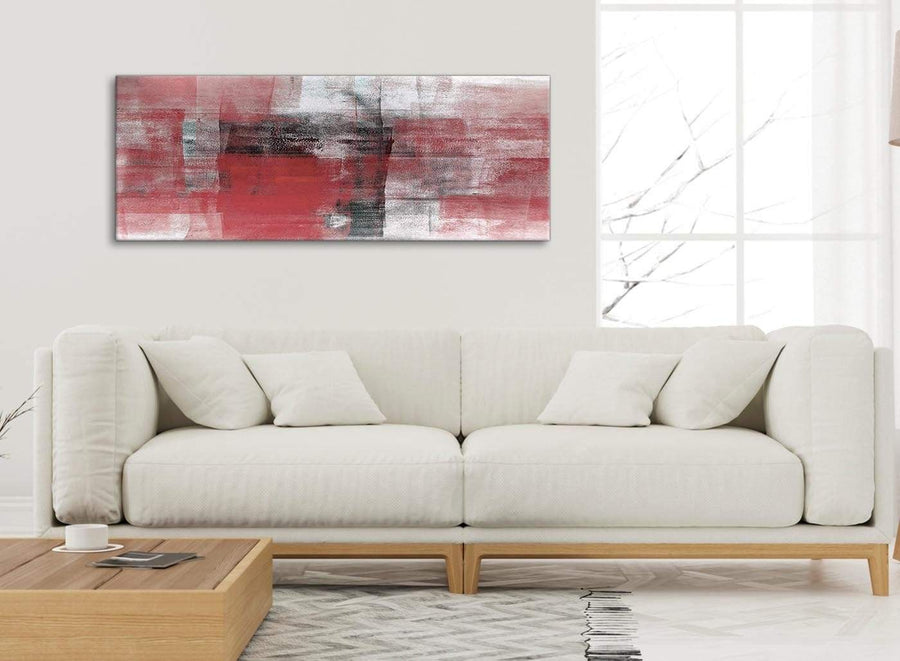 Modern Red Black White Painting Living Room Canvas Wall Art Accessories - Abstract 1397 - 120cm Print