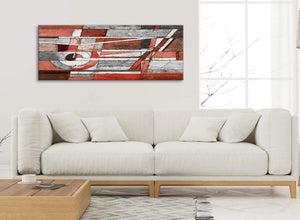 Modern Red Grey Painting Living Room Canvas Wall Art Accessories - Abstract 1401 - 120cm Print