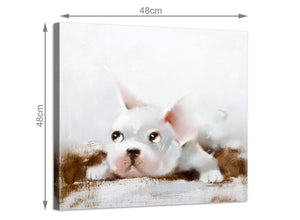 Modern square animal canvas prints boys bedroom 1s251m
