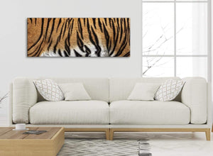 Modern Tiger Animal Print Canvas Art Pictures - 1472 - 120cm Wide Print