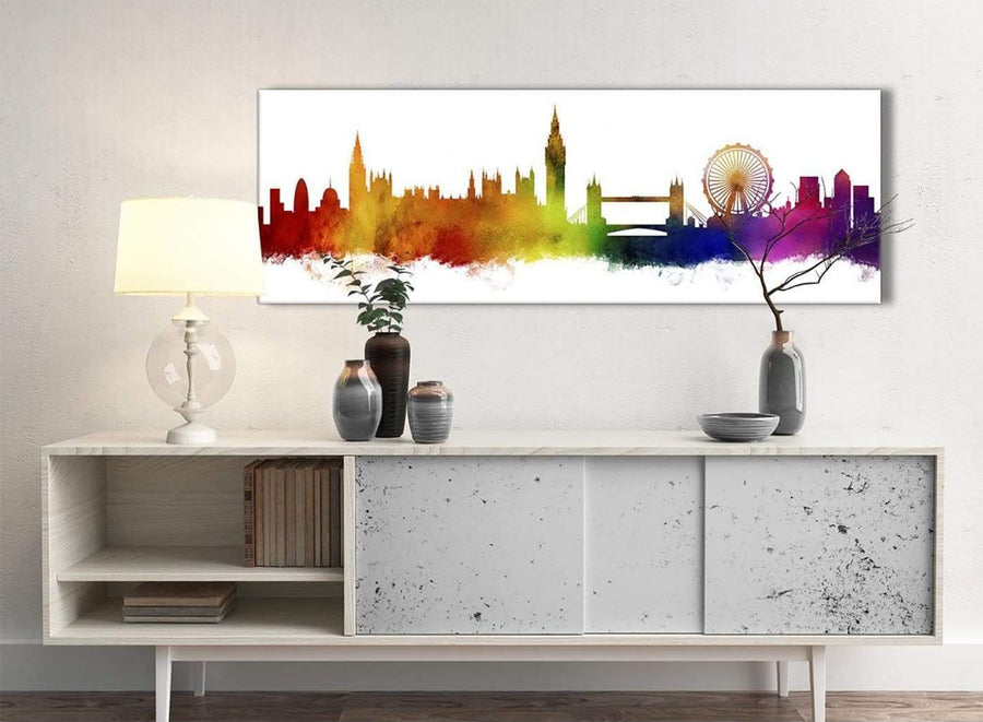 London Skyline Landmarks Canvas Wall Art Print