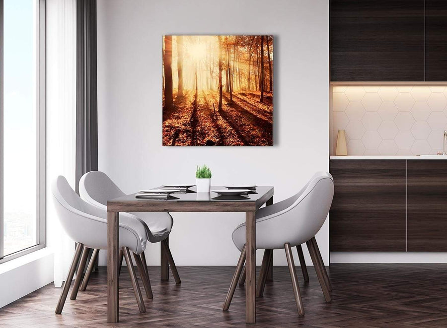 Next Large Trees Canvas Wall Art Autumn Leaves Forest Scenic Landscapes - 1s386l Orange - 79cm XL Square Picture