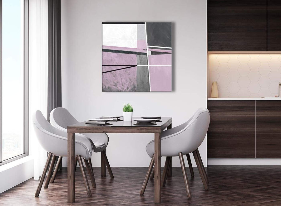 Next Lilac Grey Painting Abstract Bedroom Canvas Wall Art Decorations 1s395l - 79cm Square Print