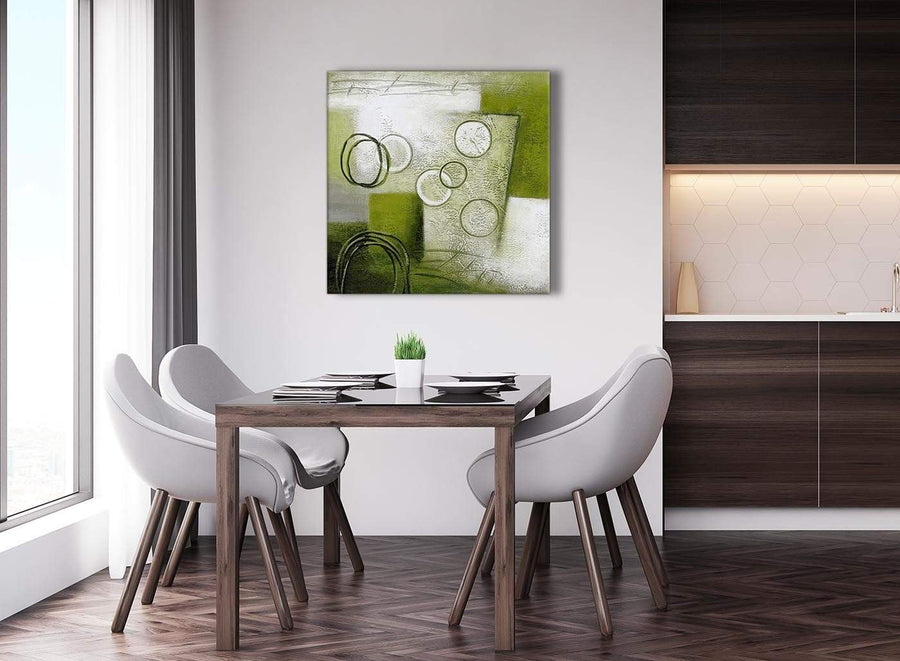 Next Lime Green Painting Abstract Bedroom Canvas Wall Art Accessories 1s434l - 79cm Square Print