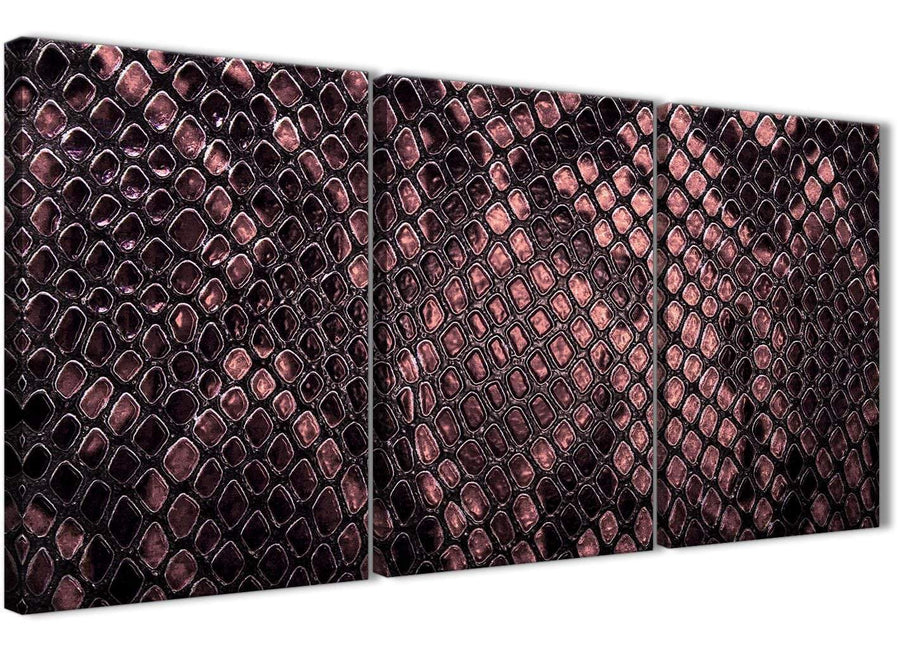 Next Set of 3 Piece Blush Pink Snakeskin Animal Print Kitchen Canvas Pictures Decor - Abstract 3473 - 126cm Set of Prints